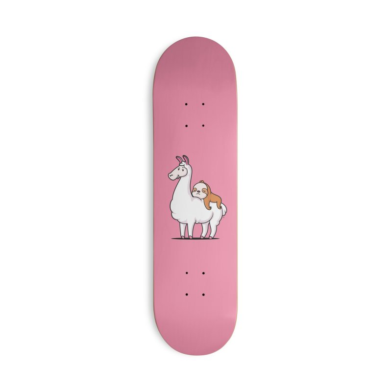 Best Friends LLama and Sloth Accessories Deck Only Skateboard by zoljo's Artist Shop