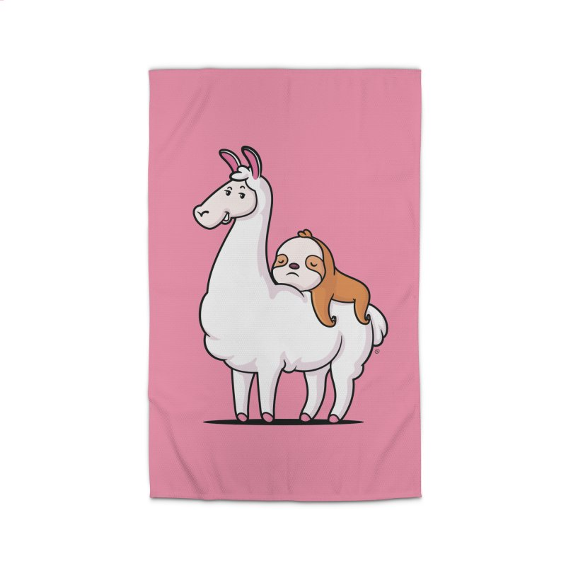 Best Friends LLama and Sloth Home Rug by zoljo's Artist Shop