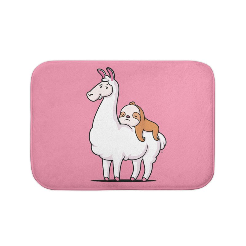 Best Friends LLama and Sloth Home Bath Mat by zoljo's Artist Shop