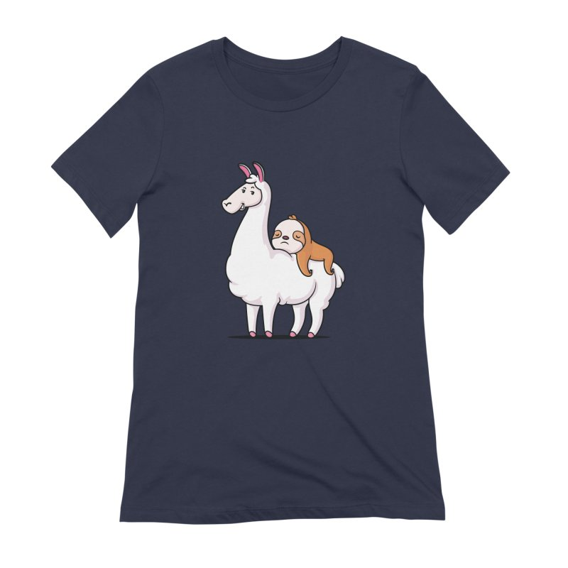 Best Friends LLama and Sloth Women's Extra Soft T-Shirt by zoljo's Artist Shop
