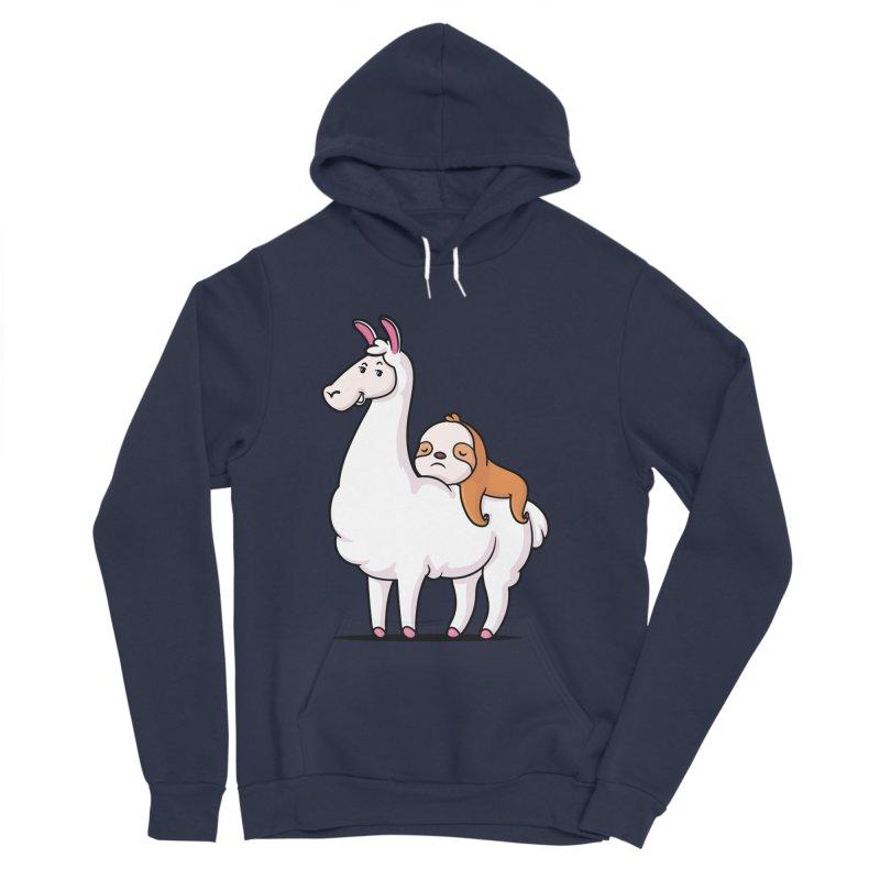 Best Friends LLama and Sloth Women's Sponge Fleece Pullover Hoody by zoljo's Artist Shop