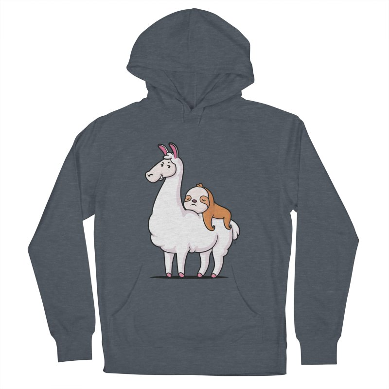 Best Friends LLama and Sloth Men's French Terry Pullover Hoody by zoljo's Artist Shop