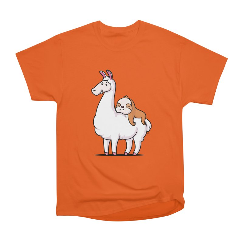Best Friends LLama and Sloth Men's Heavyweight T-Shirt by zoljo's Artist Shop