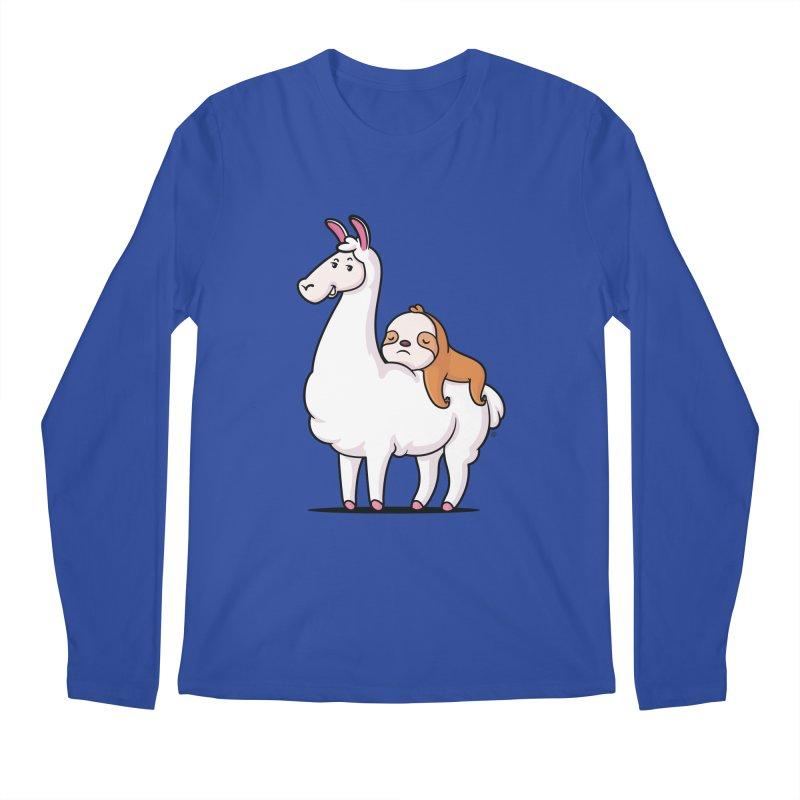 Best Friends LLama and Sloth Men's Regular Longsleeve T-Shirt by zoljo's Artist Shop