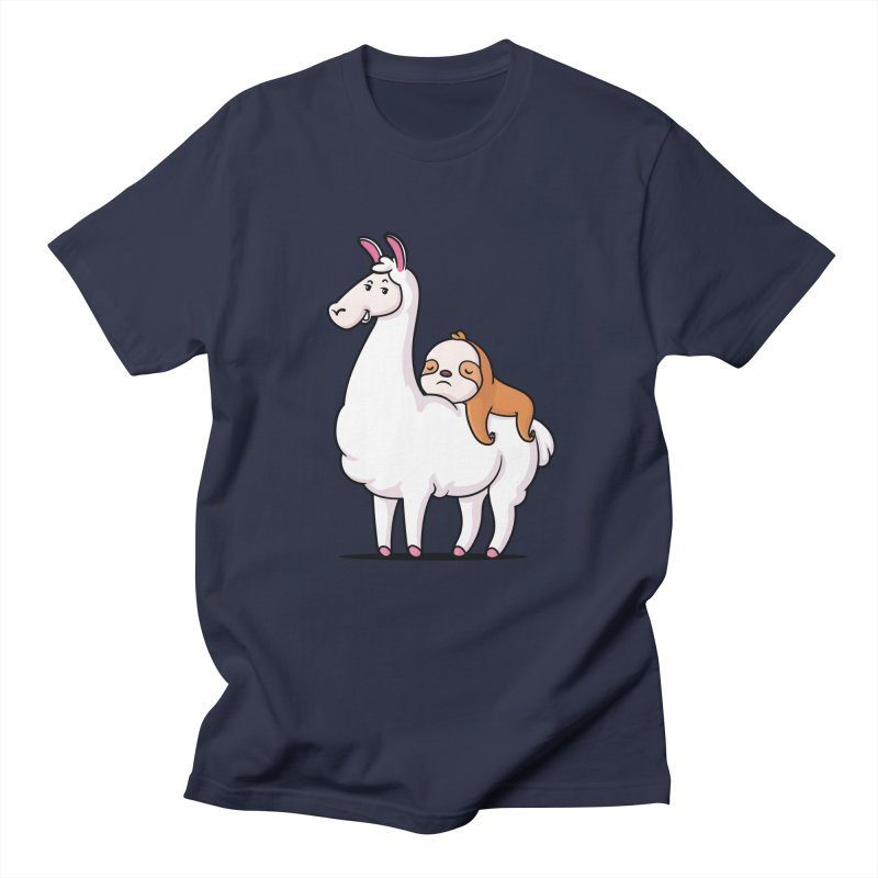 Best Friends LLama and Sloth Men's Regular T-Shirt by zoljo's Artist Shop