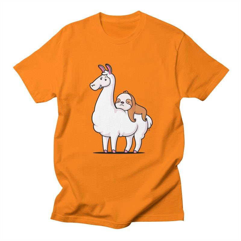Best Friends LLama and Sloth Women's Regular Unisex T-Shirt by zoljo's Artist Shop