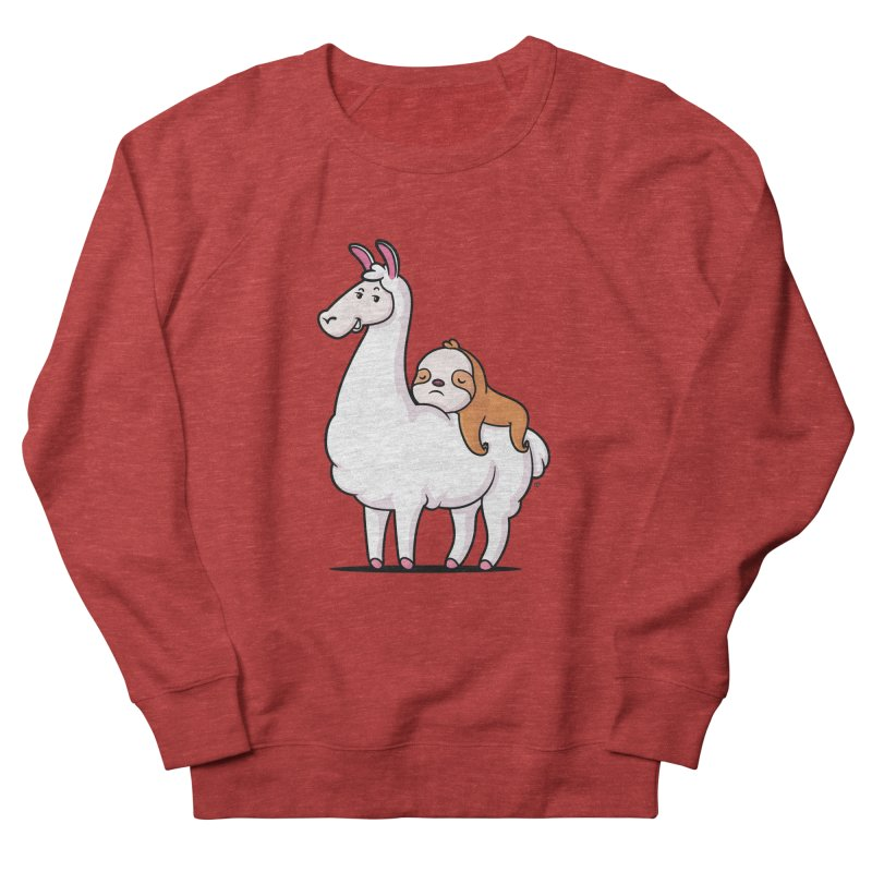 Best Friends LLama and Sloth Men's French Terry Sweatshirt by zoljo's Artist Shop