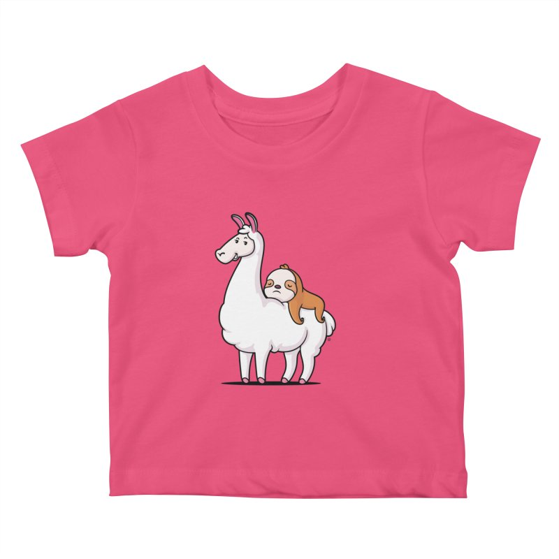 Best Friends LLama and Sloth Kids Baby T-Shirt by zoljo's Artist Shop
