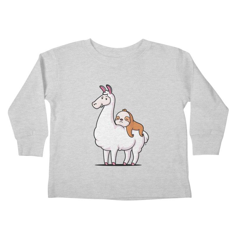 Best Friends LLama and Sloth Kids Toddler Longsleeve T-Shirt by zoljo's Artist Shop