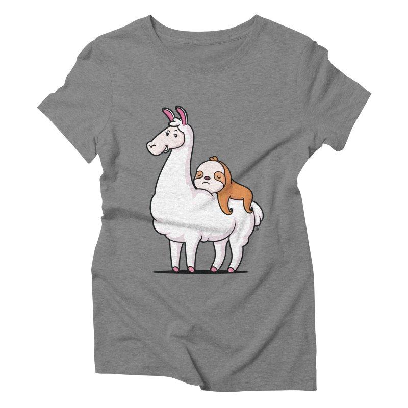 Best Friends LLama and Sloth Women's Triblend T-Shirt by zoljo's Artist Shop