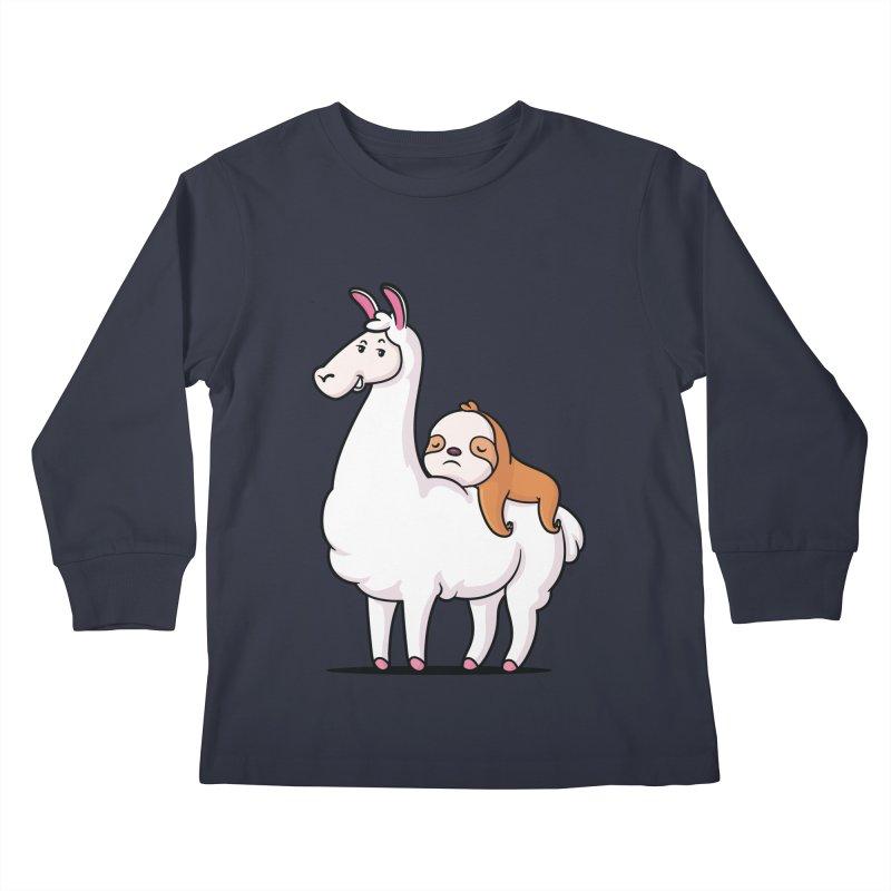 Best Friends LLama and Sloth Kids Longsleeve T-Shirt by zoljo's Artist Shop