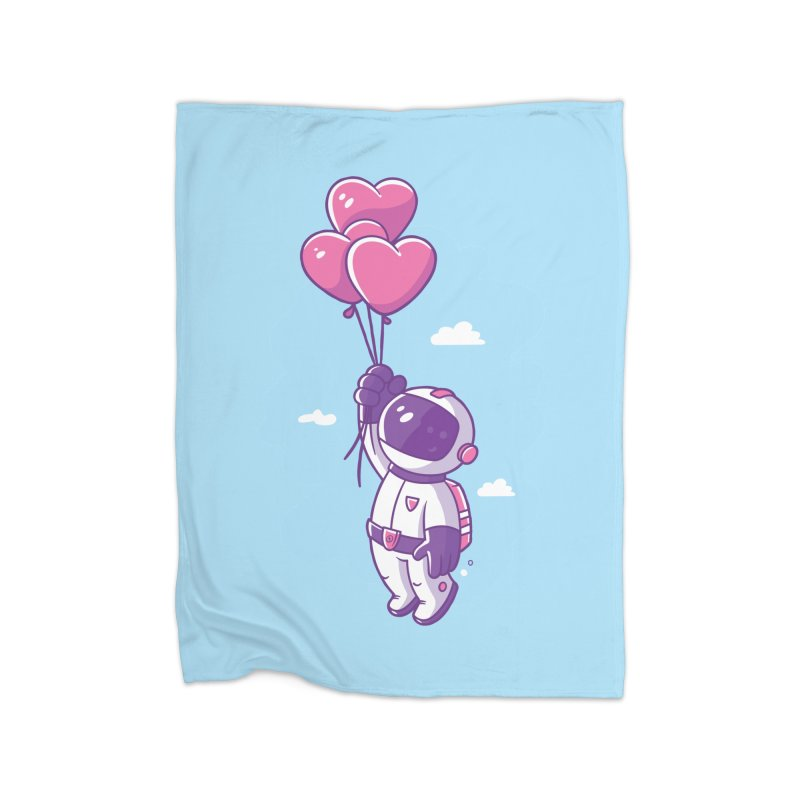 Love Makes Me High Home Fleece Blanket Blanket by zoljo's Artist Shop