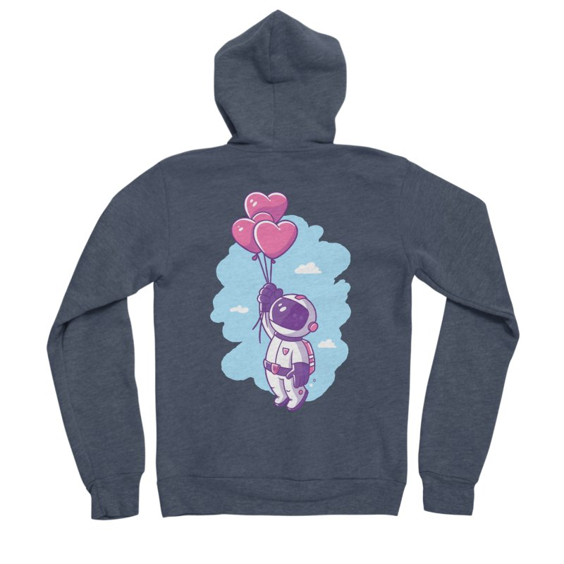 Love Makes Me High Women's Sponge Fleece Zip-Up Hoody by zoljo's Artist Shop