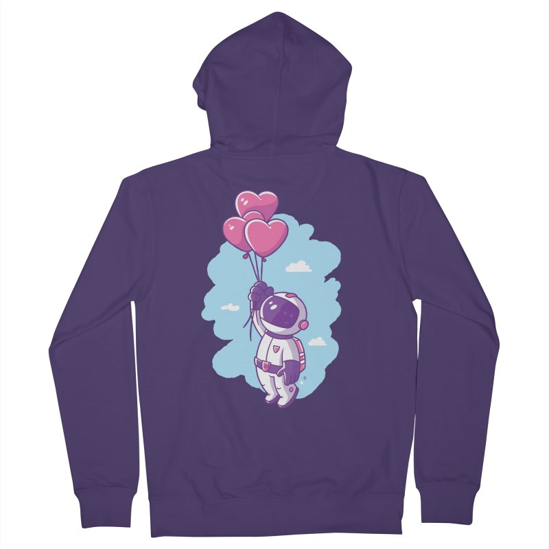 Love Makes Me High Women's French Terry Zip-Up Hoody by zoljo's Artist Shop