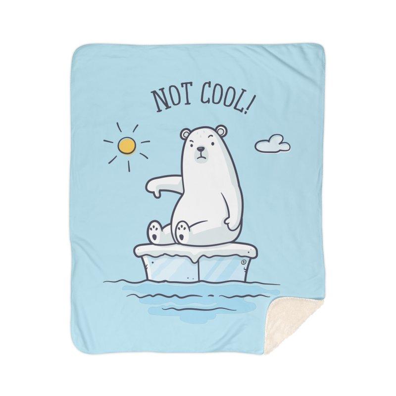 Global Warming Is Not Cool - Polar Bear Home Sherpa Blanket Blanket by zoljo's Artist Shop