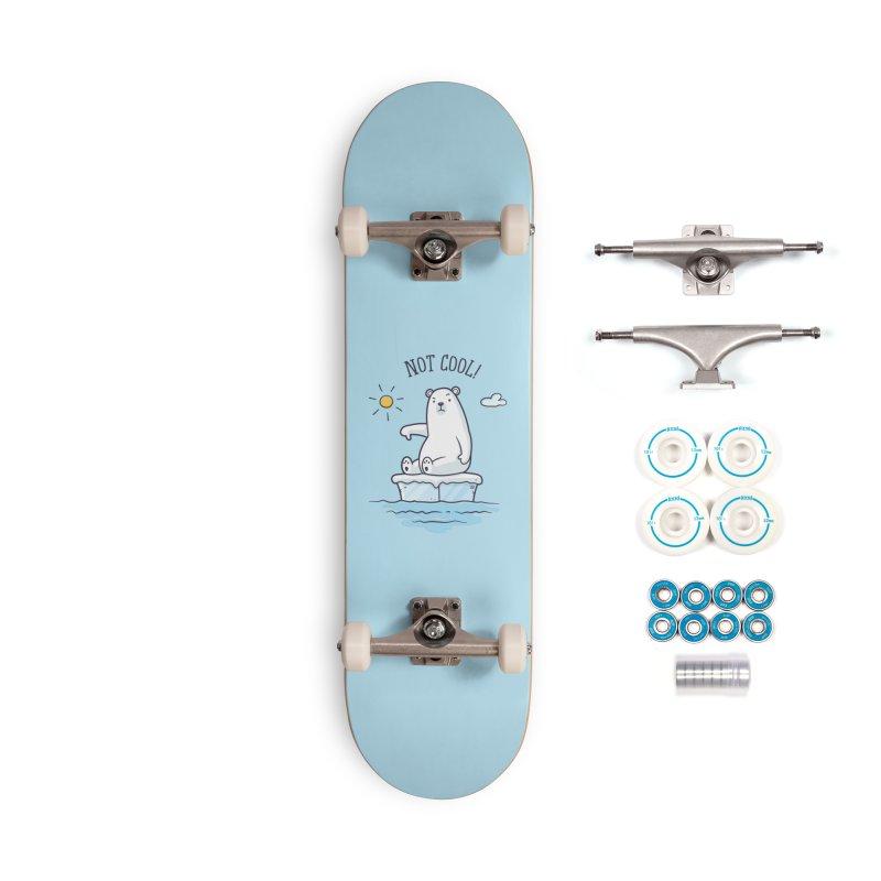 Global Warming Is Not Cool - Polar Bear Accessories Complete - Basic Skateboard by zoljo's Artist Shop