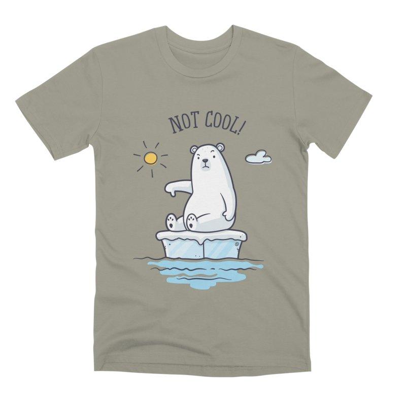 Global Warming Is Not Cool - Polar Bear Men's Premium T-Shirt by zoljo's Artist Shop