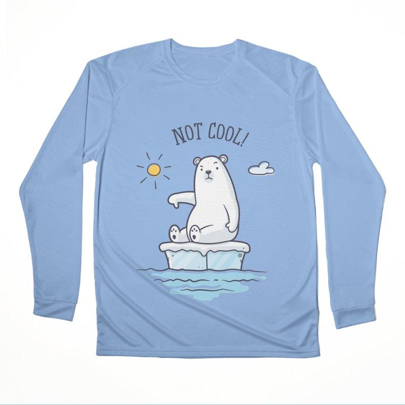 Global Warming Is Not Cool - Polar Bear Men's Performance Longsleeve T-Shirt by zoljo's Artist Shop