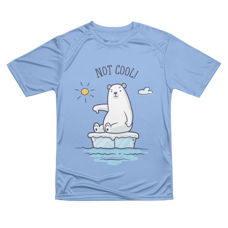 Global Warming Is Not Cool - Polar Bear Men's Performance T-Shirt by zoljo's Artist Shop