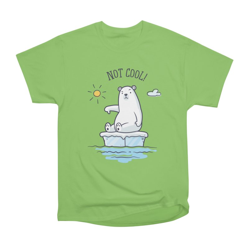 Global Warming Is Not Cool - Polar Bear Women's Heavyweight Unisex T-Shirt by zoljo's Artist Shop