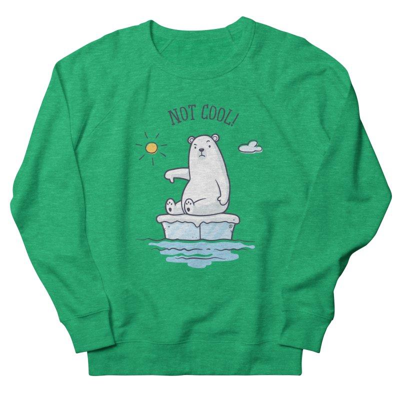Global Warming Is Not Cool - Polar Bear Women's French Terry Sweatshirt by zoljo's Artist Shop