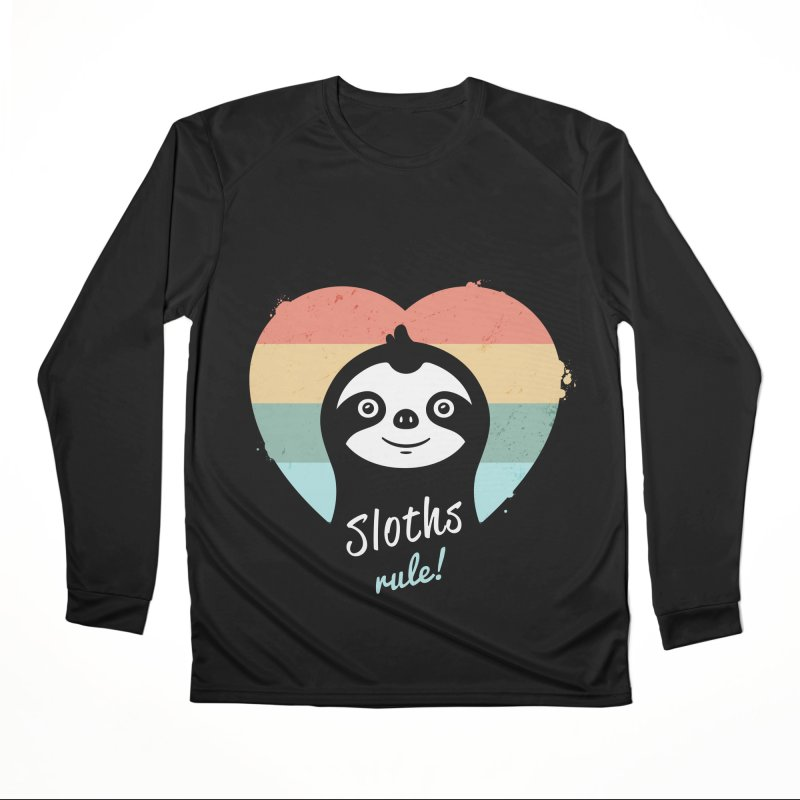 Sloths Rule! Men's Performance Longsleeve T-Shirt by zoljo's Artist Shop