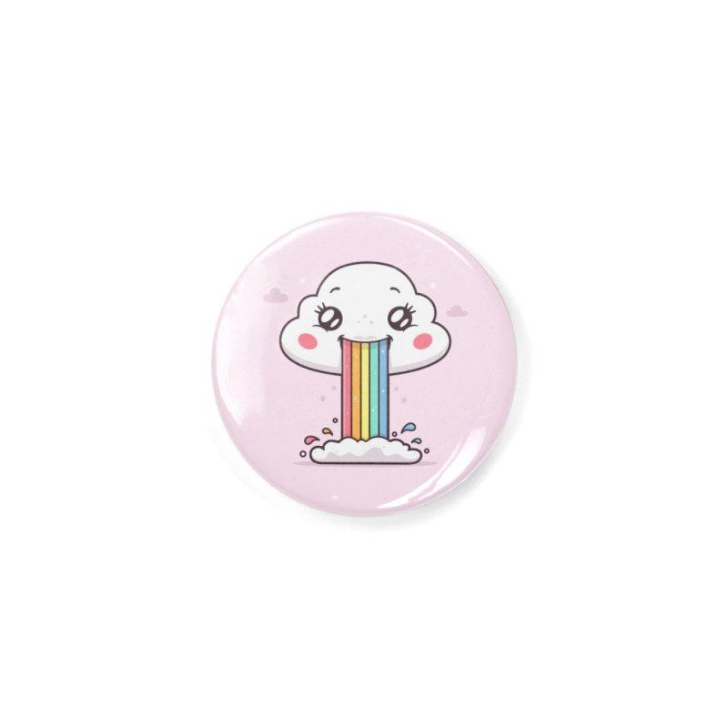 Puking Rainbow Accessories Button by zoljo's Artist Shop
