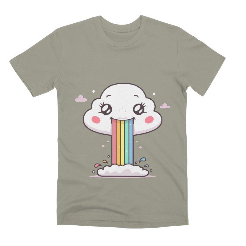 Puking Rainbow Men's Premium T-Shirt by zoljo's Artist Shop