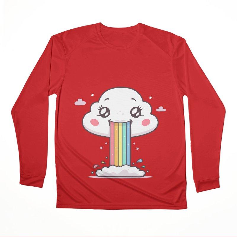 Puking Rainbow Women's Performance Unisex Longsleeve T-Shirt by zoljo's Artist Shop
