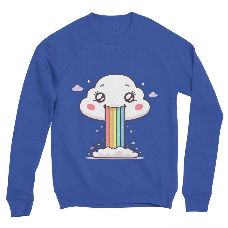 Puking Rainbow Men's Sponge Fleece Sweatshirt by zoljo's Artist Shop