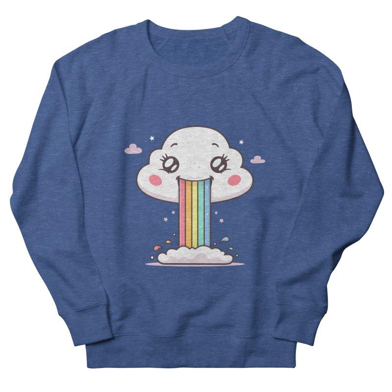 Puking Rainbow Women's French Terry Sweatshirt by zoljo's Artist Shop