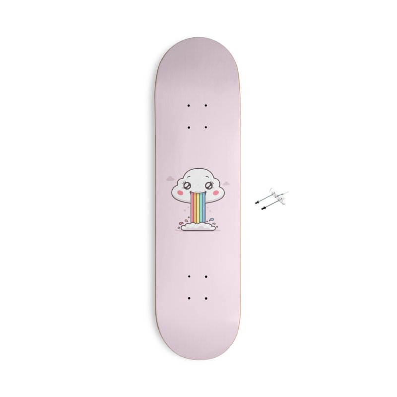 Puking Rainbow Accessories With Hanging Hardware Skateboard by zoljo's Artist Shop