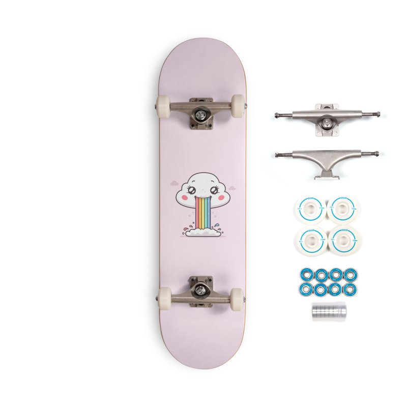 Puking Rainbow Accessories Complete - Basic Skateboard by zoljo's Artist Shop