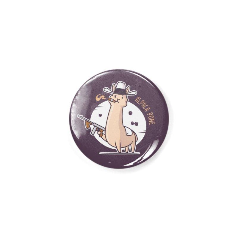 AlpaCa Pone Accessories Button by zoljo's Artist Shop