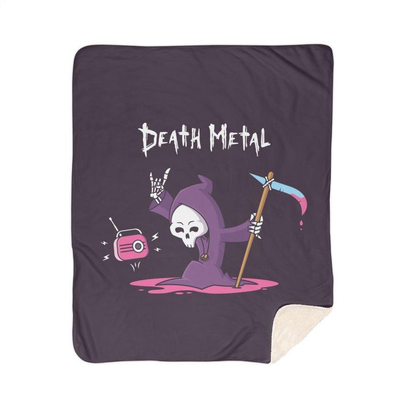 Death Metal Home Sherpa Blanket Blanket by zoljo's Artist Shop
