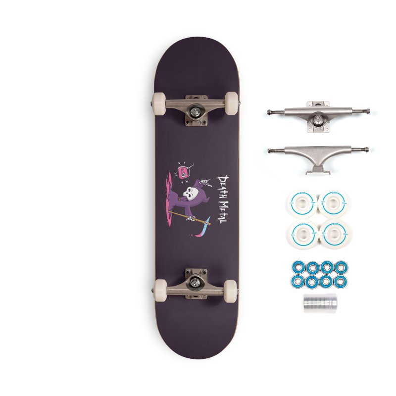 Death Metal Accessories Complete - Basic Skateboard by zoljo's Artist Shop
