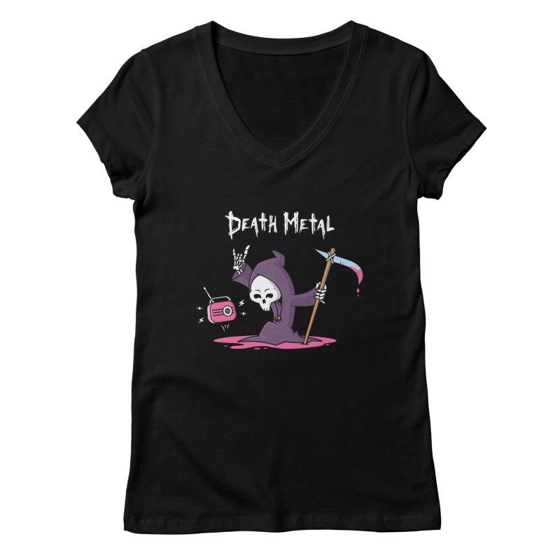 Death Metal Women's Regular V-Neck by zoljo's Artist Shop