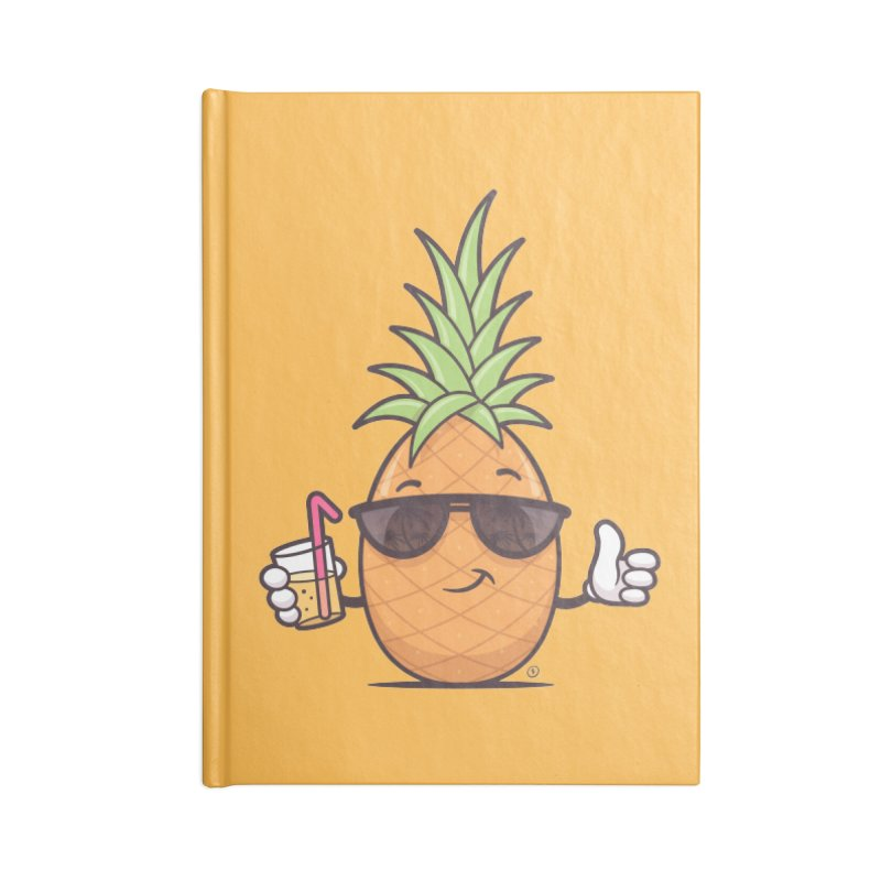 Cool Pineapple Accessories Blank Journal Notebook by zoljo's Artist Shop