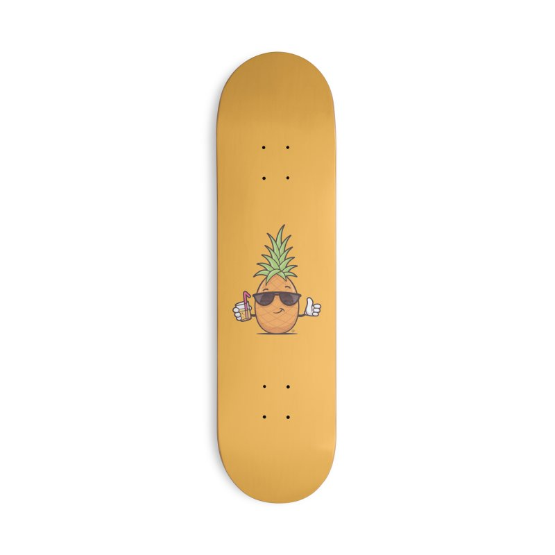 Cool Pineapple Accessories Deck Only Skateboard by zoljo's Artist Shop