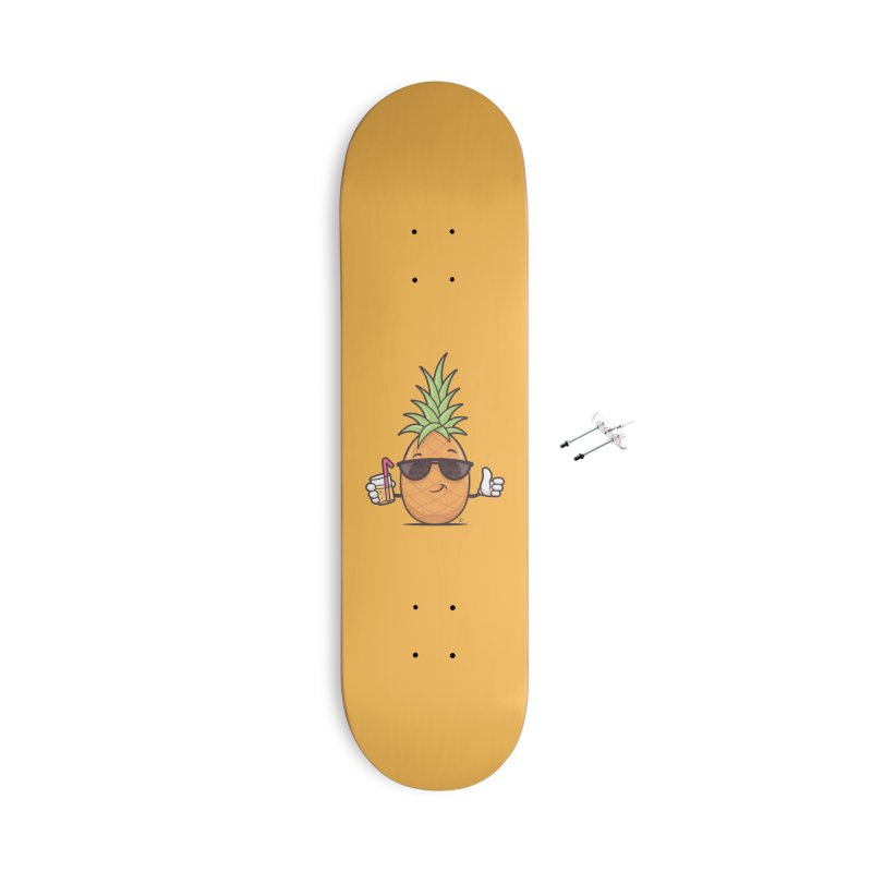 Cool Pineapple Accessories With Hanging Hardware Skateboard by zoljo's Artist Shop