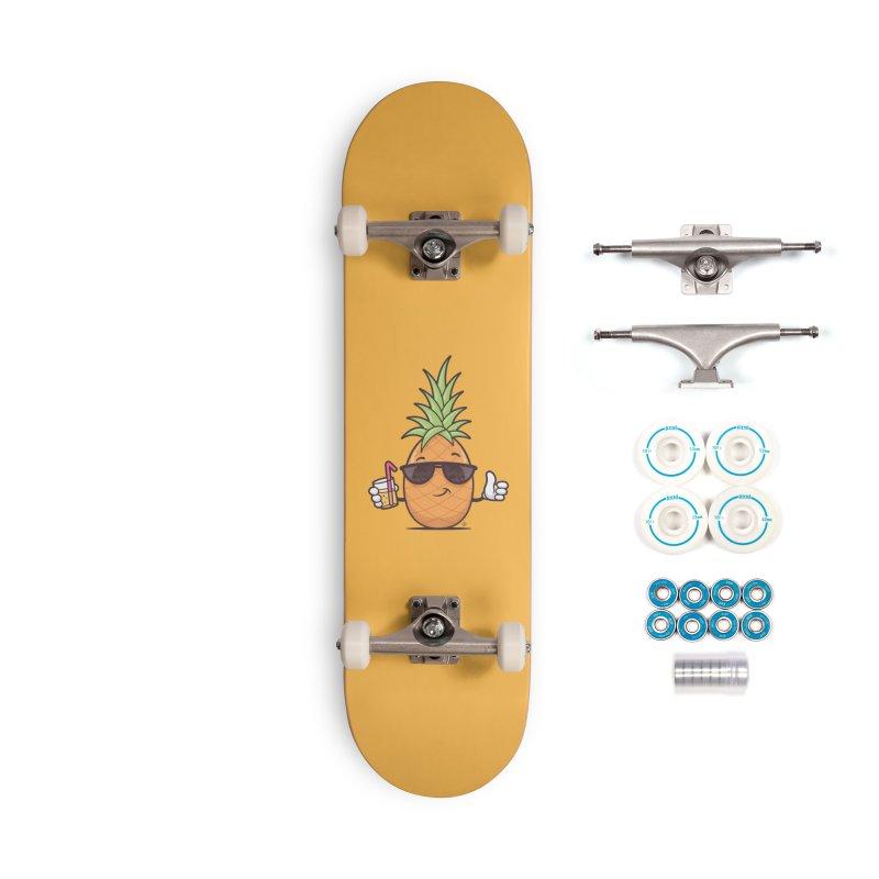 Cool Pineapple Accessories Complete - Basic Skateboard by zoljo's Artist Shop