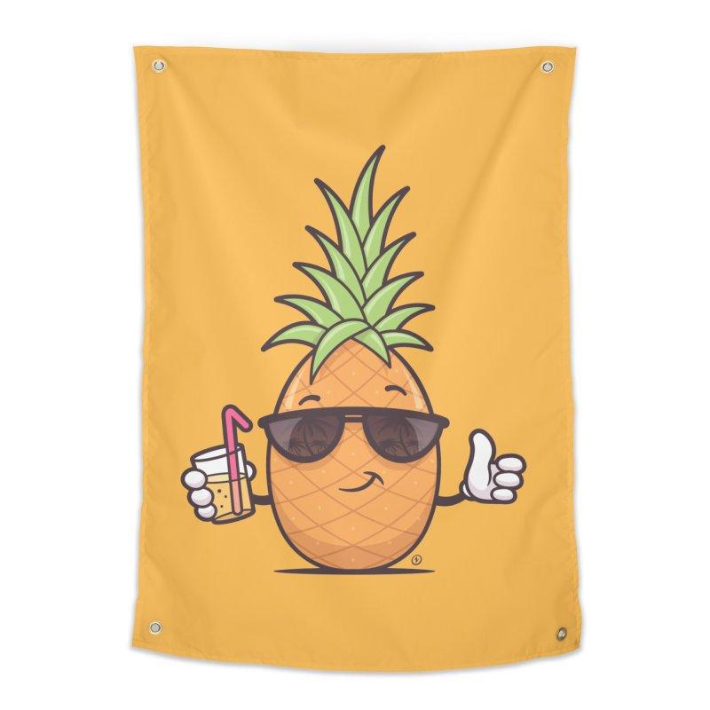 Cool Pineapple Home Tapestry by zoljo's Artist Shop