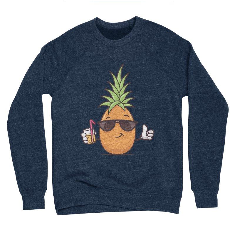 Cool Pineapple Men's Sponge Fleece Sweatshirt by zoljo's Artist Shop