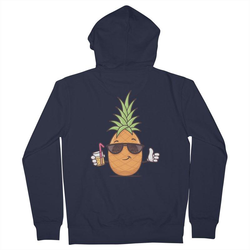 Cool Pineapple Women's French Terry Zip-Up Hoody by zoljo's Artist Shop