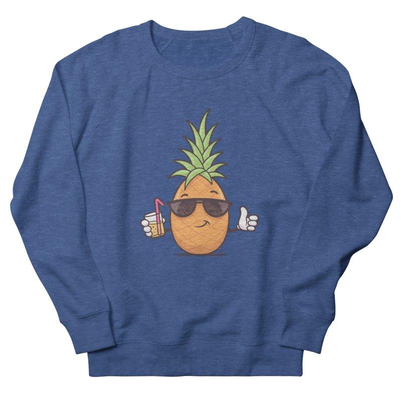 Cool Pineapple Women's French Terry Sweatshirt by zoljo's Artist Shop