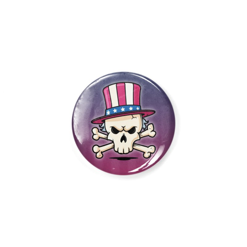 Uncle Sam Skull Accessories Button by zoljo's Artist Shop