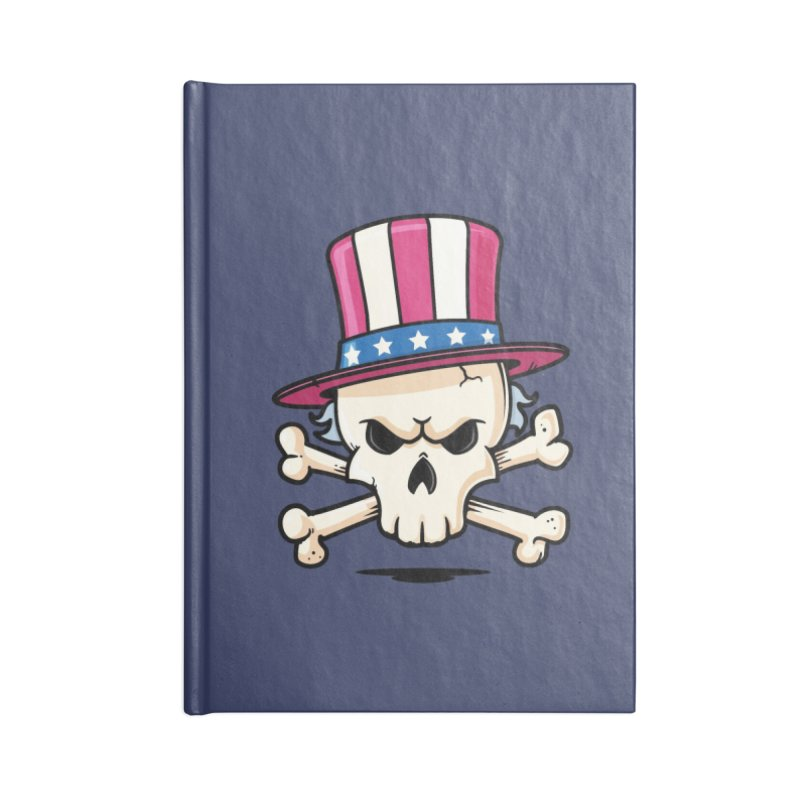Uncle Sam Skull Accessories Blank Journal Notebook by zoljo's Artist Shop