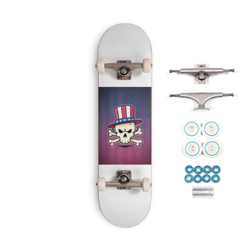 Uncle Sam Skull Accessories Complete - Basic Skateboard by zoljo's Artist Shop