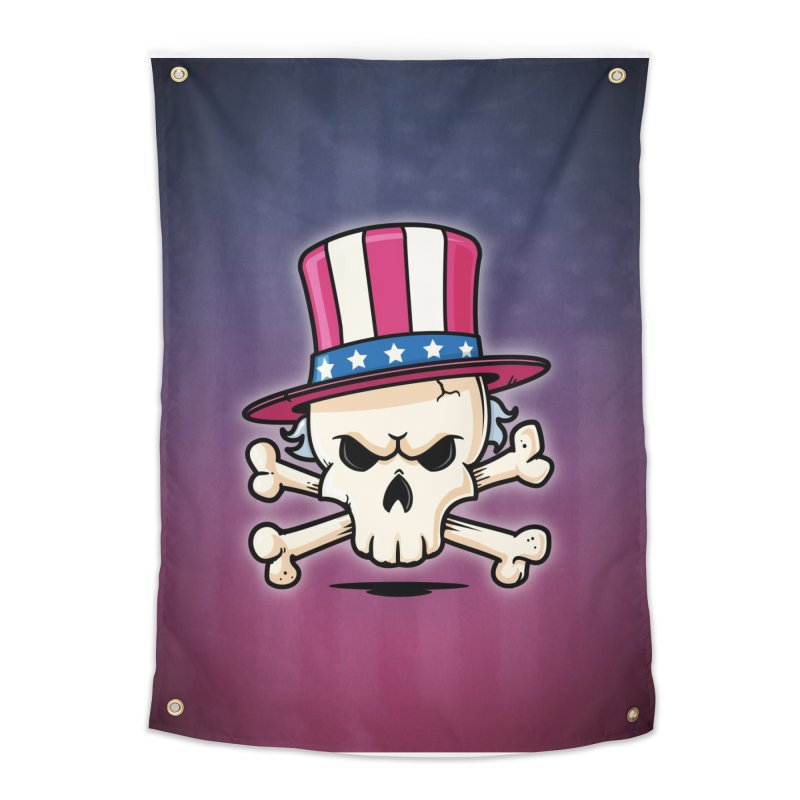 Uncle Sam Skull Home Tapestry by zoljo's Artist Shop