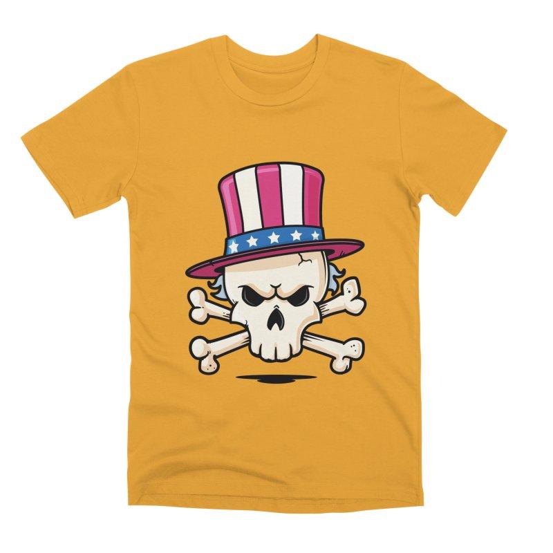 Uncle Sam Skull Men's Premium T-Shirt by zoljo's Artist Shop